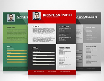 Flat Resume Template (Freebie)