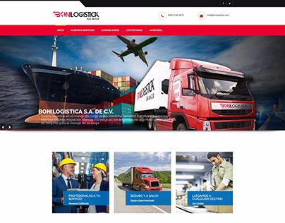 Website for Bonilogistica S.A. de C.V.