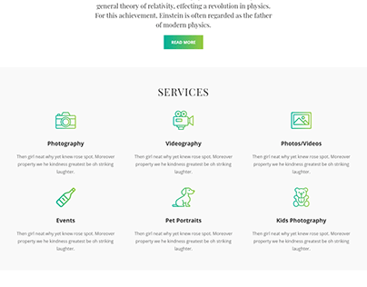 Service WordPress website | Landing page