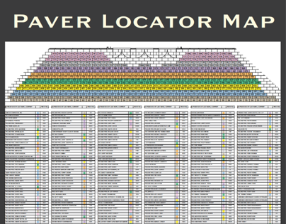 Gala Event Paver Map