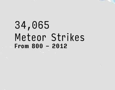Data Visualization of Meteor Strikes