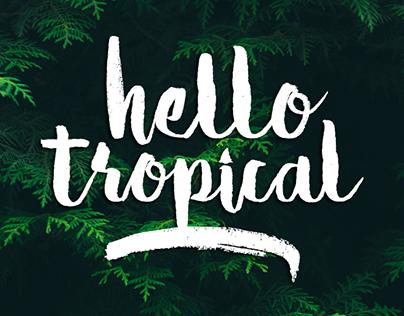 Hello Tropical Typeface