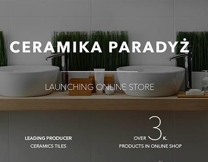 Ceramika Paradyż - Launching online store