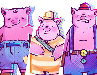 3 Piglets: Character Designs