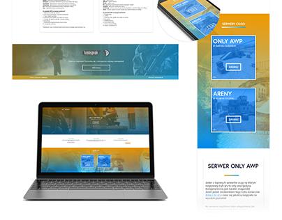 Website design / Heli-Servers.pl
