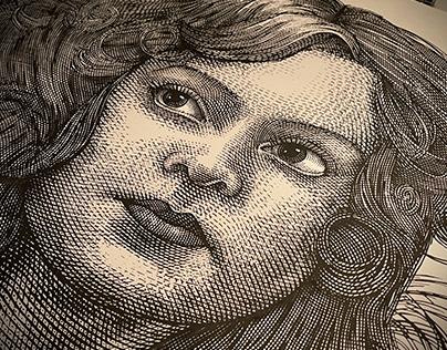 Portrait Illustrations Etched by Steven Noble