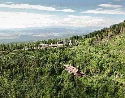 Aerial photography Bilikova chata