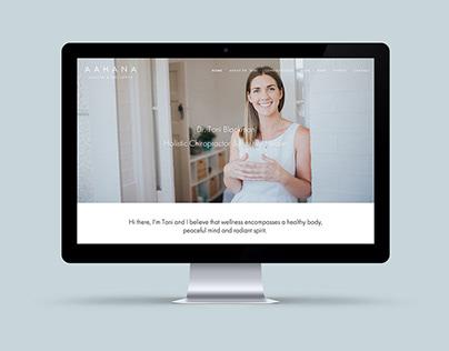 Aahana Health & Wellness website