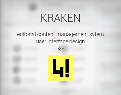 KRAKEN - editorial cms user interface for 444.hu