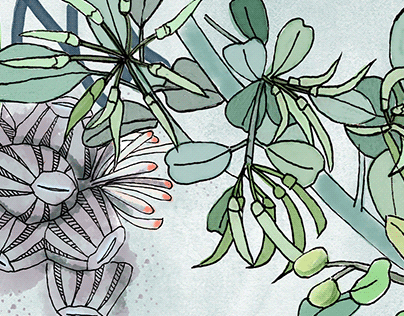 Beibu Gulf Ecosystem Illustration