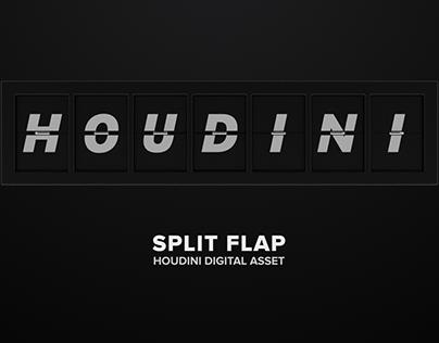 Split Flap   Houdini Digital Asset
