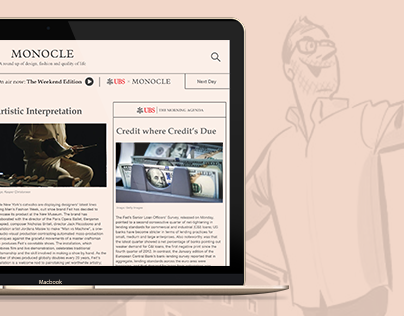 Monocle Minute - Newsletter Microsite Concept