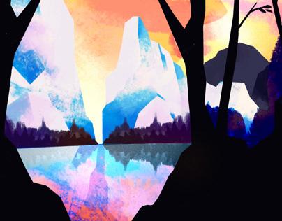 Colorful Landscape (Procreate)