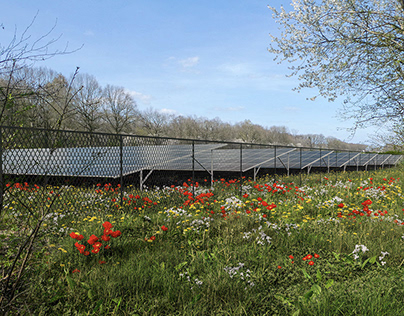 Solar park visualizations - photomontages