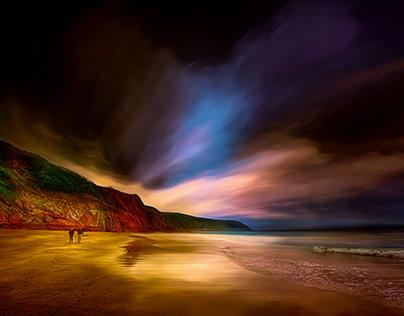 Walk along the beach in Cornwall