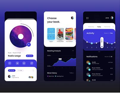Broadcasting App UI