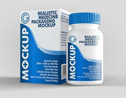 Medicine Packaging Mockup