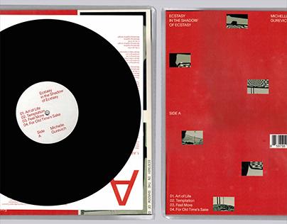 "Vinyl design for ""Ecstasy in the shadow of ecstasy"""