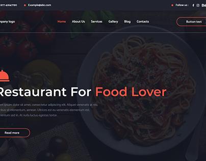 Restaurant website sample design