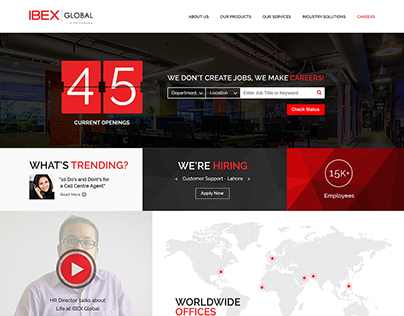 Web Design: Career Page