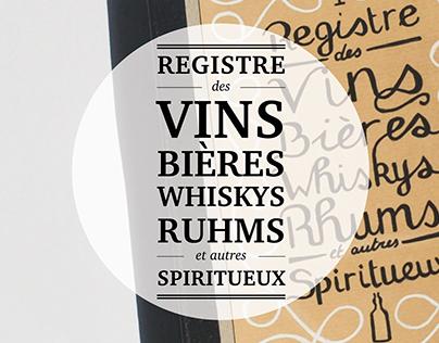 Registre des Vins, Bières et autres Spiritueux