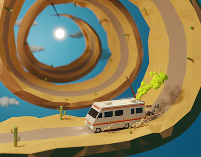 Bad trip: lowpoly animation