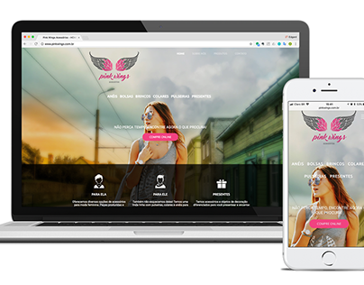 Responsive Website - Pink Wings Acessories Store -