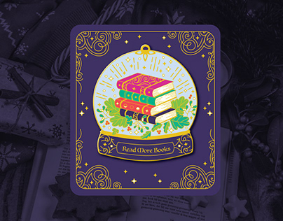 Read More Books Enamel Pin