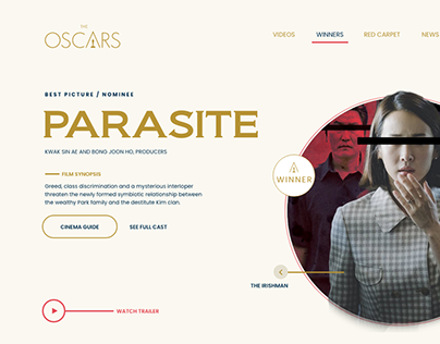 The Oscars Winner Page Redesign Concept.