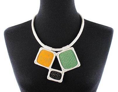 Embedded Crochet Necklace II