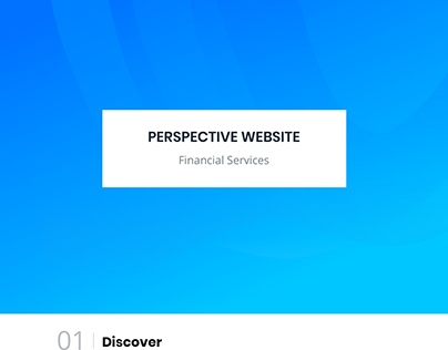 Financial Service website design