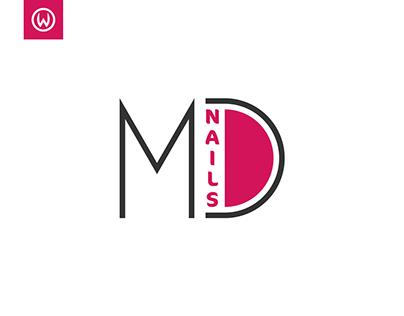 MD Nails Logo Design & Brand Identity