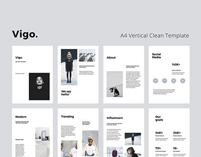 VIGO Vertical A4 Template Presentation