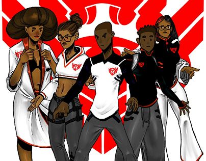 MALIKMERCH: BLACK+WHITE w RED
