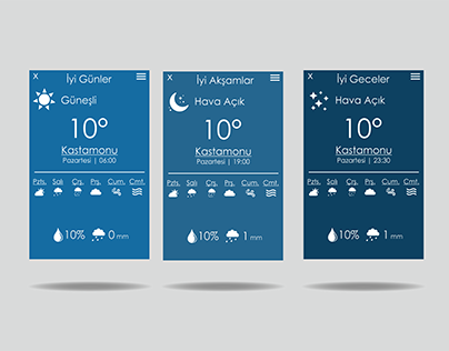 Hava Durumu Uygulaması UI