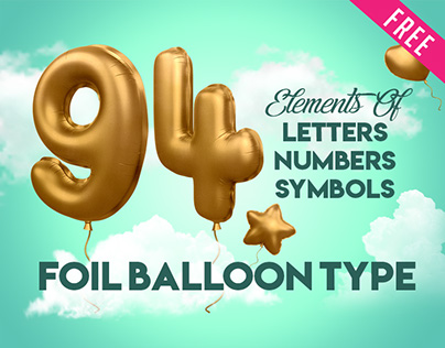 3d Alphabet Foil Balloon in PSD