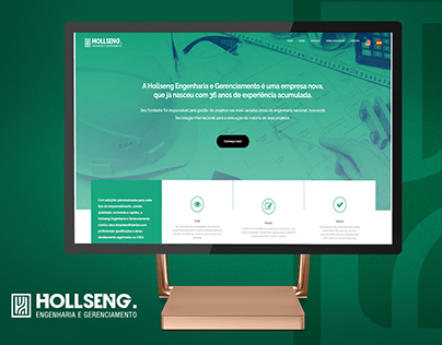 One Page wordpress - HOLLSENG Engenharia