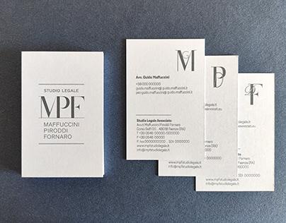 MPF Studio Legale - Brand Identity