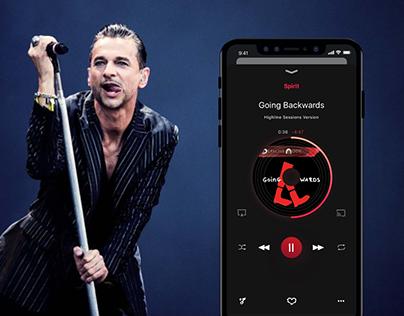 Music app for Depeche Mode (Concept)