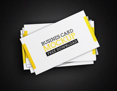 Freebie- Business Card Mockup Vol. 04