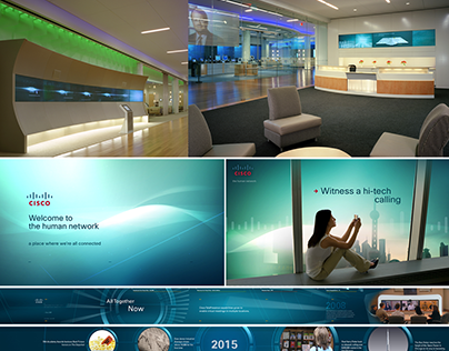 Various digital content for installation design