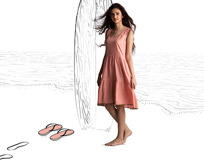 Look book illustrations for Suman Nathvani