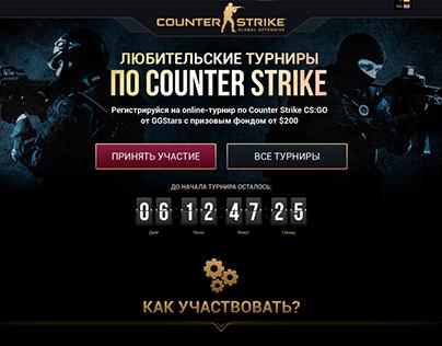 Game Landing page Counter Strike