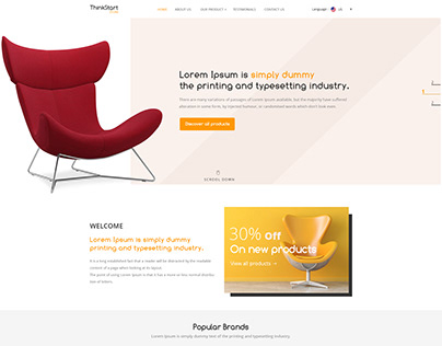 Latest Retail and Online Store Website Design Template