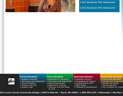 LCCC Proposed Website Re-Design