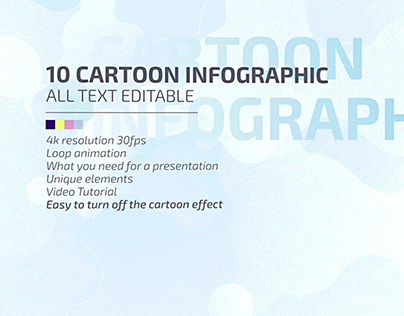 10 Cartoon Infographic (After Effects )