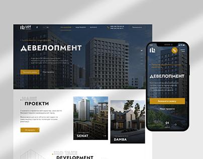 Website Building company   UI/UX Design Concept