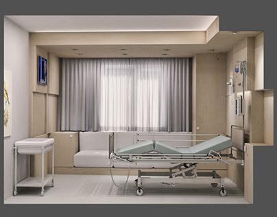 Duygu Hospital, Patient Room Design