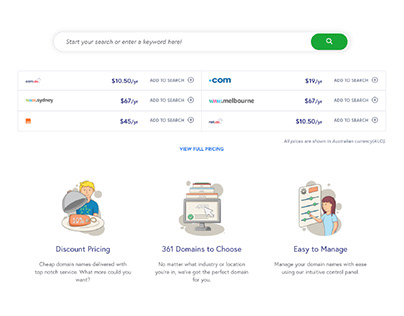 Zuver: Domain Name Sub-Pages