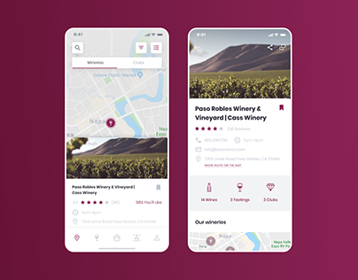 Winery Guide App